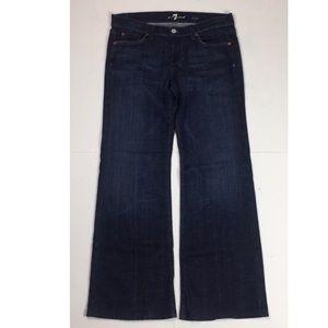 7 For All Mankind Dojo Blue Jeans Dark Wash Denim